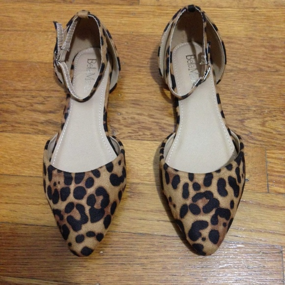 dff6375fca01 Bella Marie Shoes - Bella Marie Pointed Toe Leopard Print Flats, Sz 8